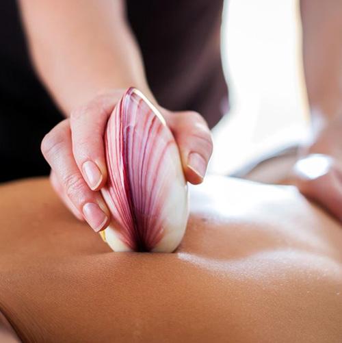 Massage aux Coquillages Chauds ou froids